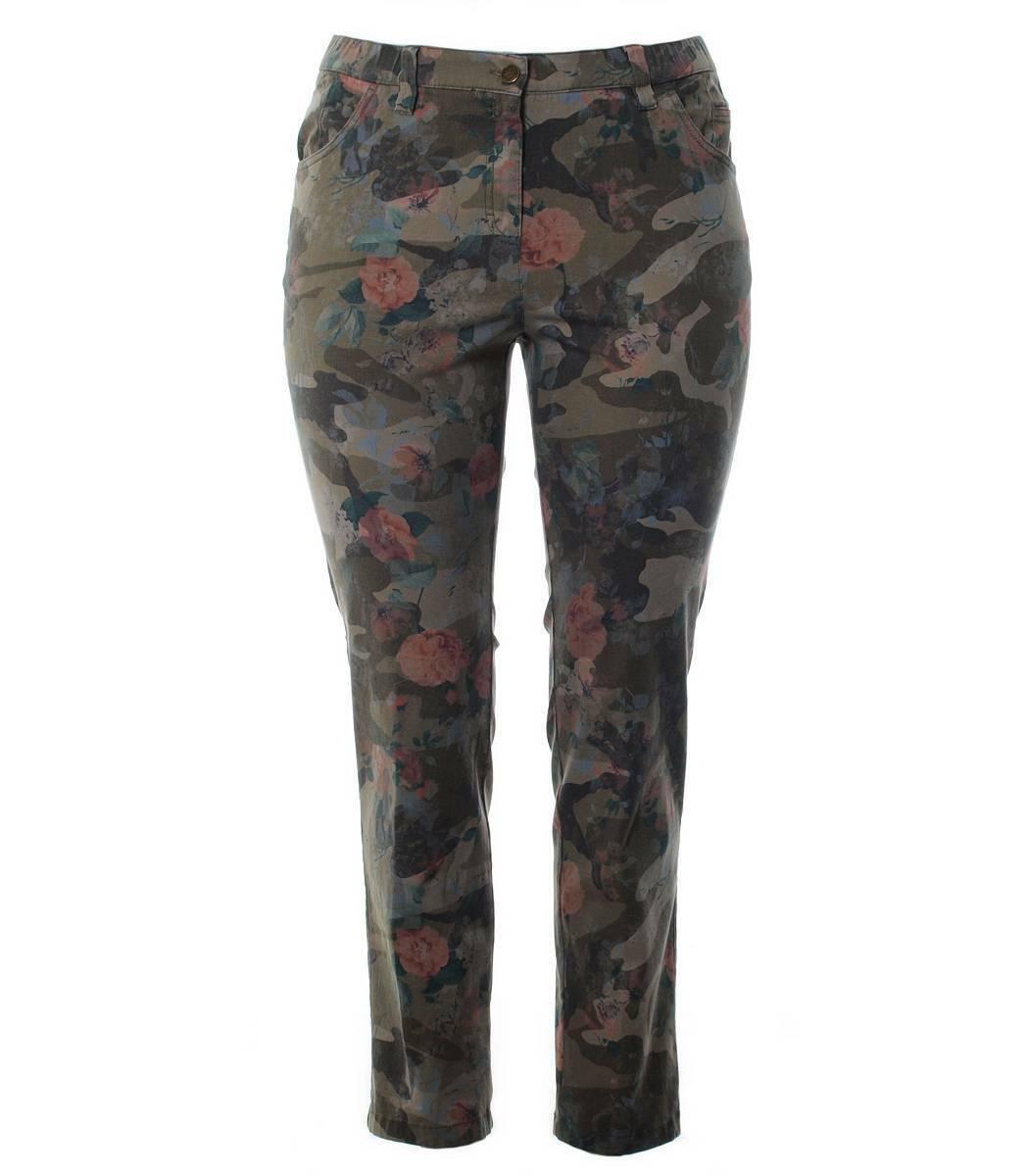 Kjbrand Kjbrand Kjbrand Jeans Donna Pantaloni Betty TUBO Tronchetti camouflage pattern grandi dimensioni 8ac0fb