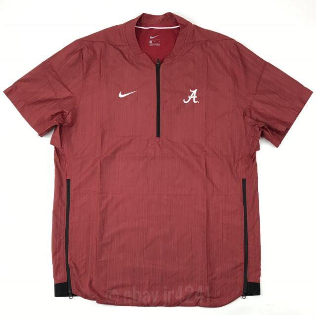 cabf64bfc460 Nike Alabama Crimson Tide Short Sleeve Lockdown 1 4Zip Jacket Men s L Red  908419