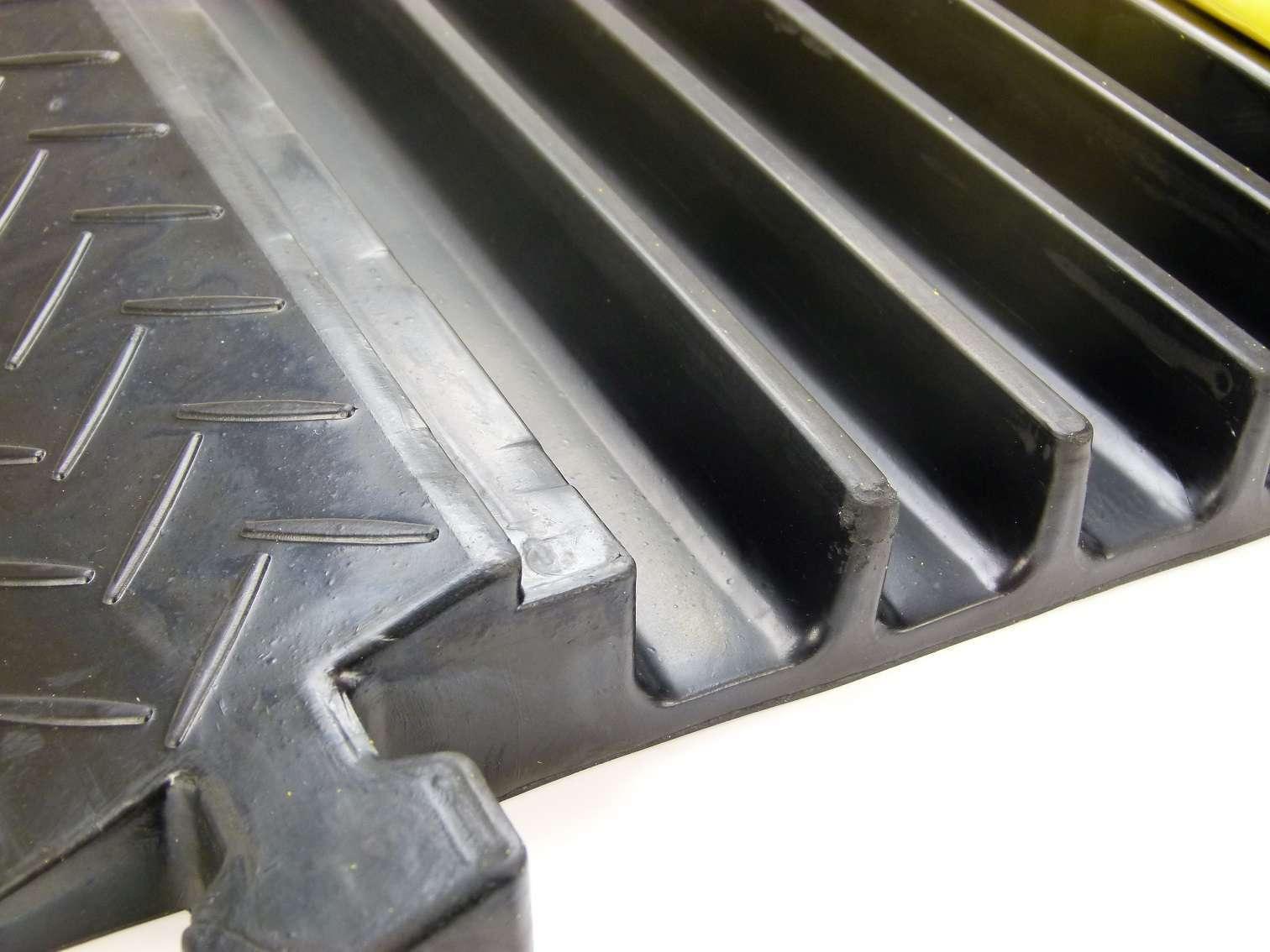 Obligatorisch Gummi Endstück Für 1 Kanal Kabelbrücke Cable Board Überfahrschutz Schlauchbrücke Baustellengeräte & -ausrüstung