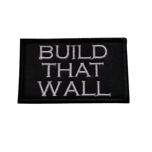 Build That Wall USA Make America Great Again Donald Trump Hook Loop MAGA Patch