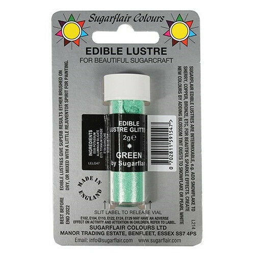 30 x Sugarflair vert Edible Lustre scintillant Dust for Sugarcraft Cake Decorating