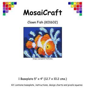 MosaiCraft-Pixel-Craft-Mosaic-Art-Kit-039-Clown-Fish-039-Pixelhobby