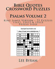 Bible Quotes Crossword Puzzles: Psalms by Lee Byram (Paperback / softback)