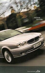 Jaguar X-type 2001-02 Marché Du Royaume-uni 40pp Sales Brochure 2.0 2.5 3.0 V6 Se Sport-afficher Le Titre D'origine Excellente Qualité