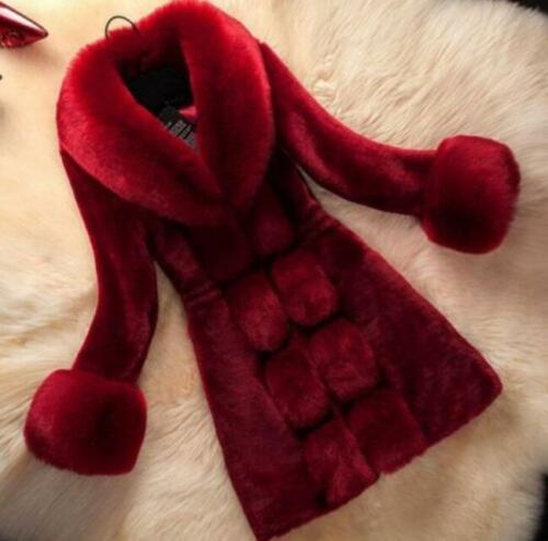 Luxury Womens Fox Fur Coat Long Parkas Outwear Warm Winter Thicken Jackets New