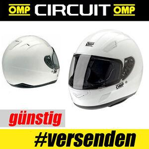 OMP Integralhelm Circuit weiß HELM HELME Motorsport Clubsport Drift