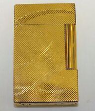 Yellow Gold Tone Dupont Ligne 2 Butane Lighter Cursive D