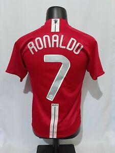 wholesale dealer 463b1 d72e3 Details about Ronaldo #7 Manchester United Champion League Final 2008 shirt  home jersey rare