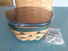 Longaberger 2016 Green Christmas Tree Trimming Generations basket set IN HAND
