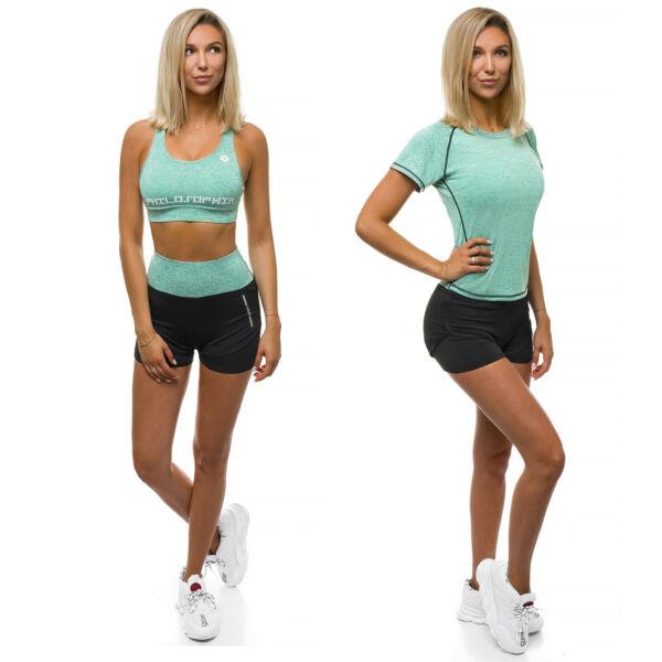 Sportanzug Trainingsanzug T-Shirt Kurzhose Shorts Fitness Damen OZONEE O/YW0401