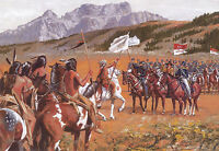 """""""Showing the Flag"""" Don Stivers Signed Limited Edition Print - US Cavalry"""