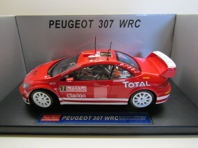 Sun Star 1 18 Scale Diecast Peugeot 307 WRC  7 Monte Carlo 2005 M.Gronholm - New