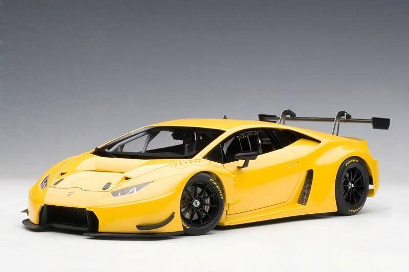 LAMBORGHINI HURACAN GT3  GIALLO INTI/giallo METALLIC  AUTOART MODEL 1/18  81528