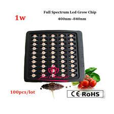100pcslot 32v 1w Full Spectrum Led Plant Chip 400 840nm For Diy Indoor Grow