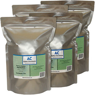 20 Pounds - Ferrous Sulfate Heptahydrate - 20% Fe
