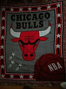 The Northwest Company NBA Chicago Bulls logo  Throw Blanket made in USA  4x5 ft