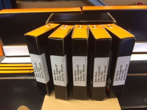 500 de chaque Taille 5 x Boîtes Mixtes coudé 16 g 2nd Fix CLOUS DEWALT DC618KB /& DCN660
