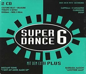 Super-Dance-Plus-6-1994-2-Unlimited-Cappella-Erasure-The-Free-Ins-2-CD