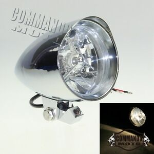 Chrome-Aluminium-Custom-Bullet-Phare-Pour-Harley-Cafe-Racer-Bobber-Chopper
