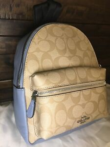 3d8e71d00 Image is loading COACH-F58315-Miniature-Charlie-Signature-Leather-Backpack -In-