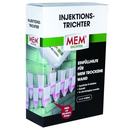 MEM Injektionstrichter 6 Stück 500100
