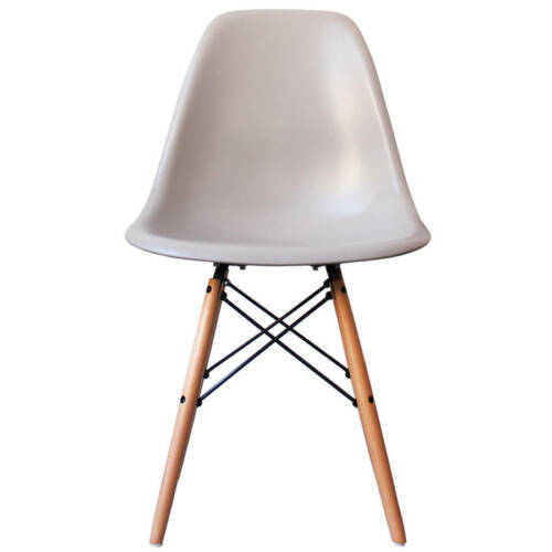 11 COLOUR Plastic Chair with Wooden legs Lounge Dining Retro Designer Light blue,white,Warm Grey,Steel Grey,Green,Yellow,Mustard,Black,Ocean,Orange,Grey,Pink