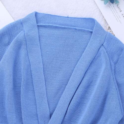 Girls Long Sleeve Ballet Cardigan Costume Dance Gymnastics Knit Wrap Sweater