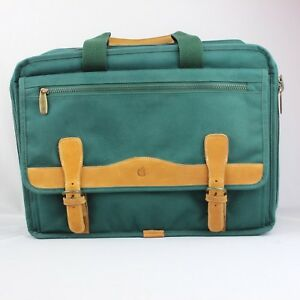 Vtg-Apple-Macintosh-Green-Briefcase-Computer-Laptop-Notebook-Macbook-Bag-Leather