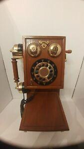 Nostalgic Replica Country Kitchen Wiod Wall Phone Works
