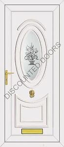 Jefferson One Florida Glazed UPVC Front Door, Frame & Letterbox