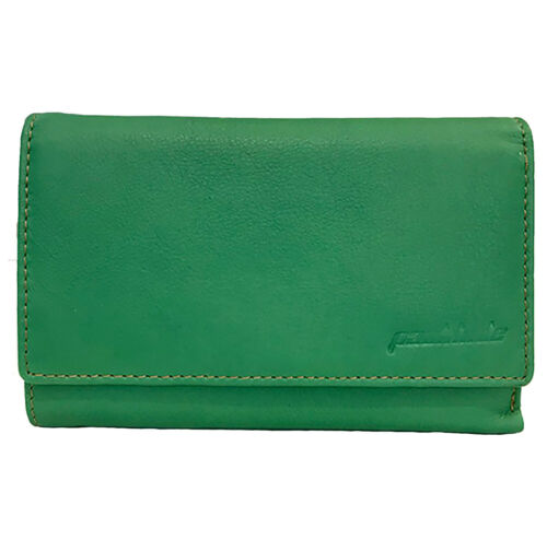 mann Paul Portemonnaie Brieftasche Geldbörse hide Grün Leder Reißverschluss wTOAxY
