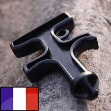 Self Défense Outil Nylon Stinger Duron Keychain Porte Clefs Pointe Black France