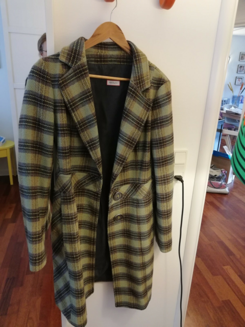 Frakke, str. 40, Max&co,  Green,  Wool,  God men brugt,…