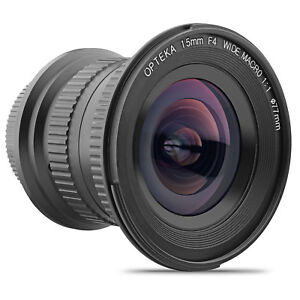 Opteka 15mm f/4 LD UNC AL Weitwinkel Objektiv für Canon EOS Digital SLR Kameras