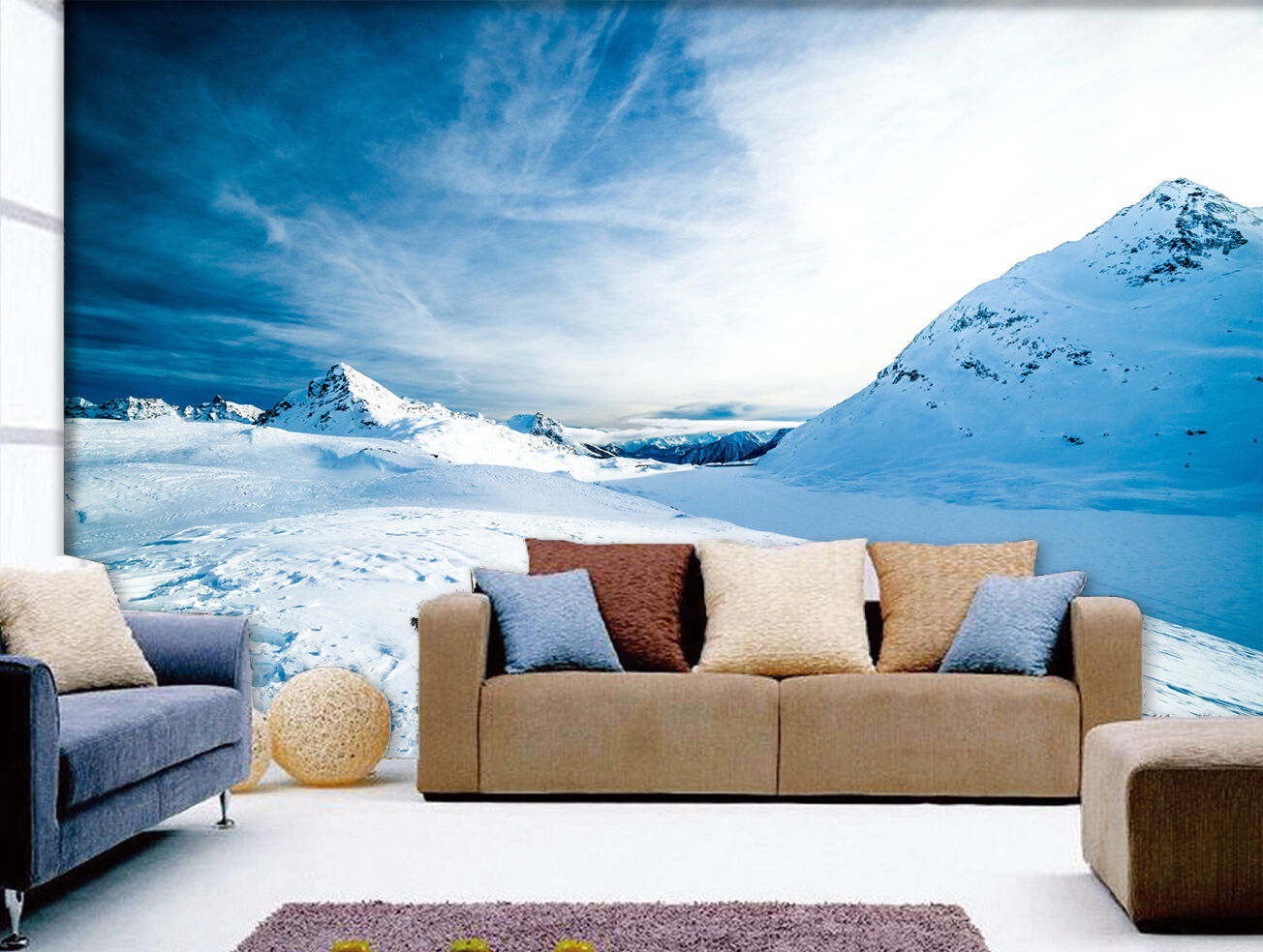 3D White Snow Landscape 558 Wall Paper Wall Print Decal Wall AJ WALLPAPER CA