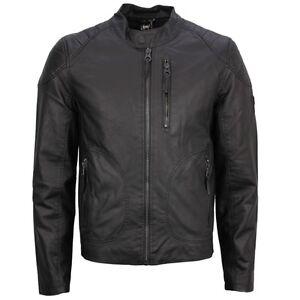 Details zu Gipsy Herren Lederjacke Lederoptik Biker Jacke schwarz Rory M0009210 01