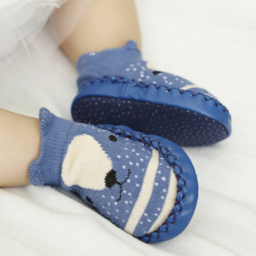 Infant Baby Girls Boy Soft Socks Shoes Prewalker Anti-slip Boots Slippers Cotton