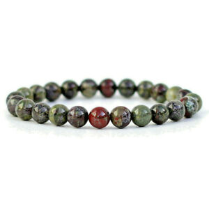Dragon-Blood-Gemstone-Bracelet-8mm-Round-Natural-Stone-Beads