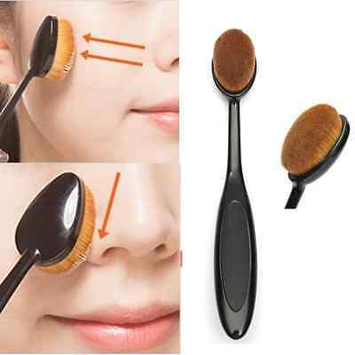 Professional Oval Brush Face Makeup Liquid Cream Power Cosmetic Foundation Tool