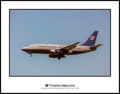 J059LGDH11X14 United Airlines Boeing 737 11x14 Photo