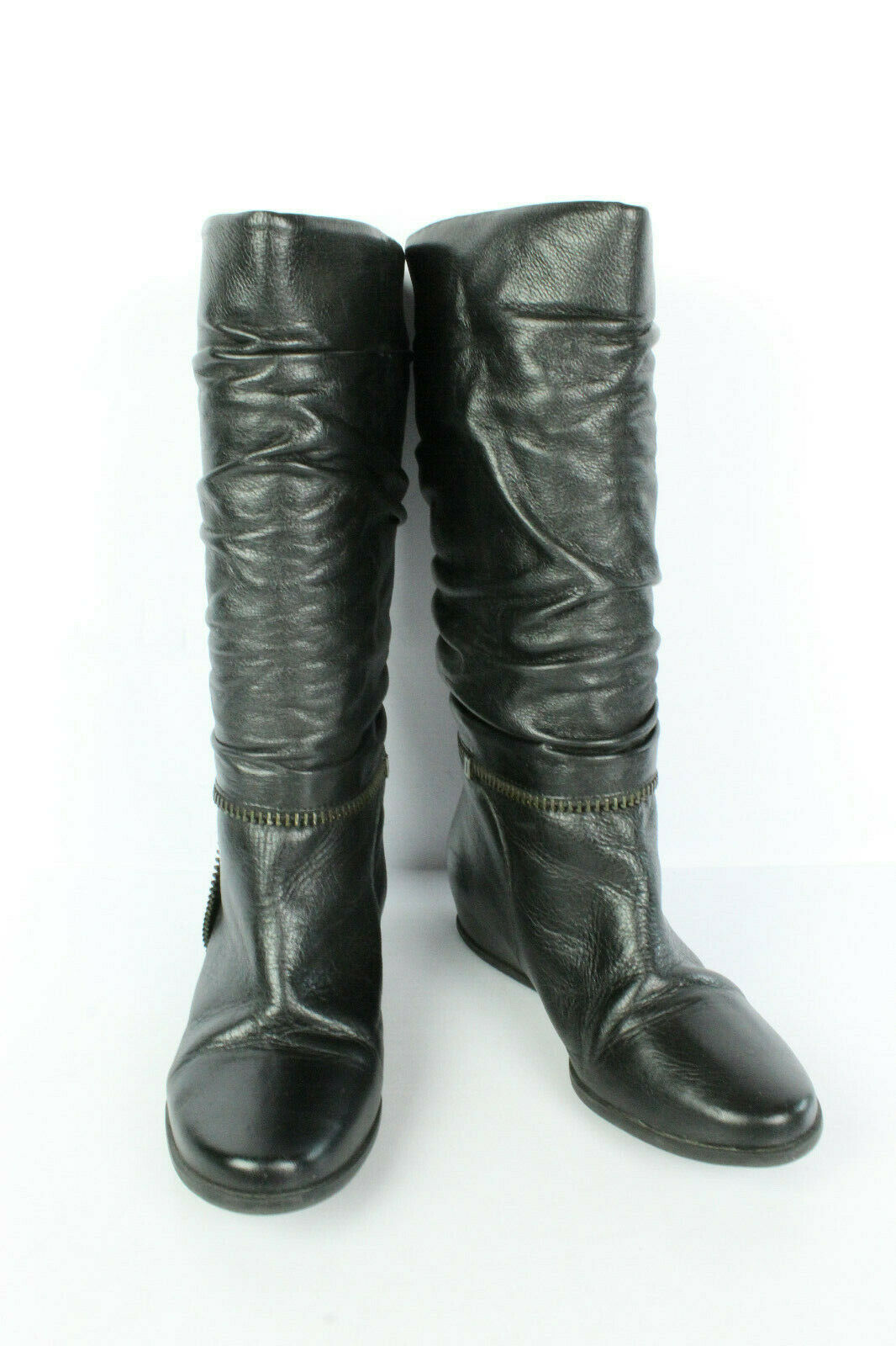 Vintage san marina boots black leather t 37 very good condition