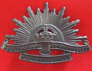 AUSTRALIAN-ANZAC-WW1-amp-WW2-RISING-SUN-UNIFORM-HAT-OR-CAP-BADGE-MEDAL