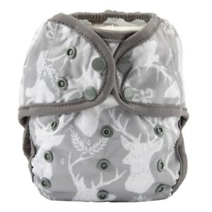 Baby-Diaper-Cover-Nappy-Cover-Double-Gussets-Reusable-One-Size-Deer