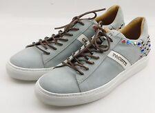 Cesare Paciotti 43822B Vit Camoscio Acqua (Blue) Leather Mens Shoes 8 UK / 9 US