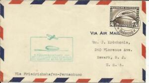 Graf ZEPPELIN -1st SOUTH AMERICA FLIGHT 1931-FRIEDRICHSHAFEN 29/8/31 to
