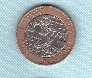 Gb Elizabeth Ii. £ 2 Lb (environ 0.91 Kg) 2007 Angleterre Ecosse Acte D'union 1707. Coin Chasse-afficher Le Titre D'origine Qvdxebvx-08005522-476275787