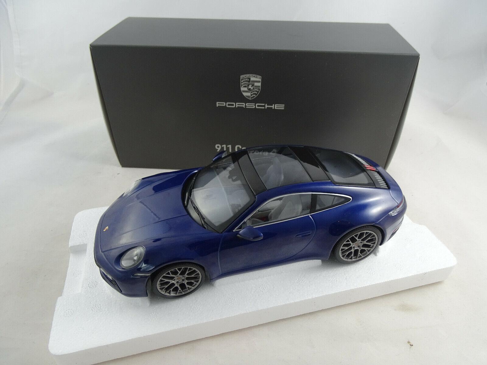 1 18 Minichamps Dealer PORSCHE 911 CARRERA 4 S Bleu Nouveau Neuf dans sa boîte
