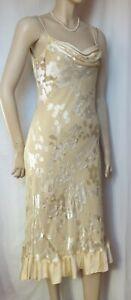 6dd0e43216f Das Bild wird geladen  Monsoon-Abendkleid-Brautkleid-38-ivory-creme-Hochzeit-Seide-