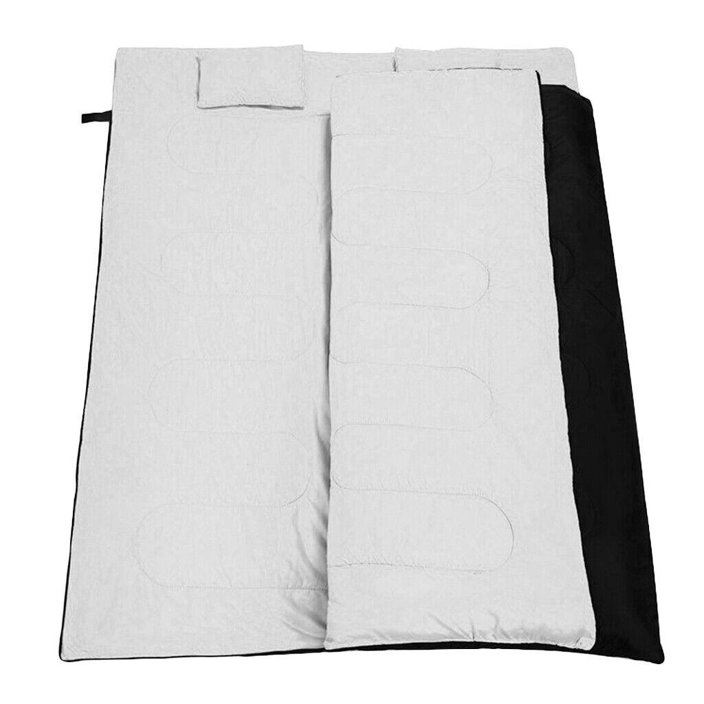Doppelter Schlafsack mit 2 Kissen & Tragetasche Wasserdichter leichter 2
