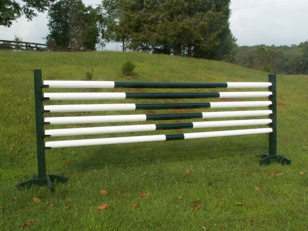 Horse Jumps 6 12ft V-Design CUT Wooden Rails  - Choice of color  low prices